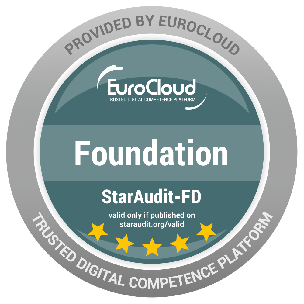 Eurocloud Foundation Zertifikat